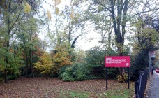 honeywood museum sign by autumn trees