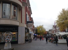 shops in pedestrian area