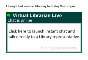 screenshot of virtual librarian