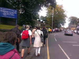 marching into Headingley
