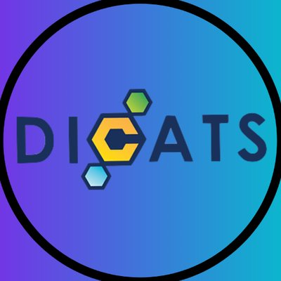 circle with blue background and small geometric shapes forming the C in dicats